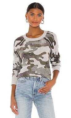 Camo Thermal Sweatshirt White + Warren $345 BEST SELLER