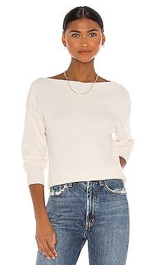 Open Neck Pullover Sweater White + Warren $225