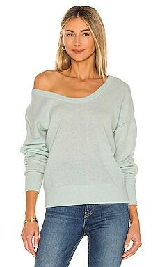 Open Scoopneck Sweater White + Warren $179