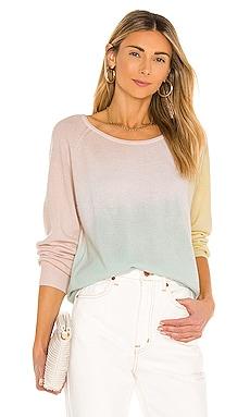 Cashmere Tri-Dye Sweatshirt White + Warren $355