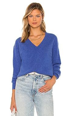 Cashmere Long Sleeve V Neck Sweater White + Warren $265