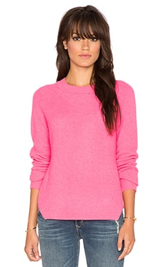 White + Warren Thermal Sweater in Neon Pink Heather