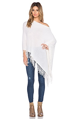 White + Warren Two Way Fringe Topper in Pearl White