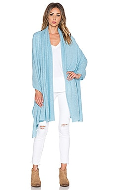 White + Warren Travel Wrap in Moonstone Heather