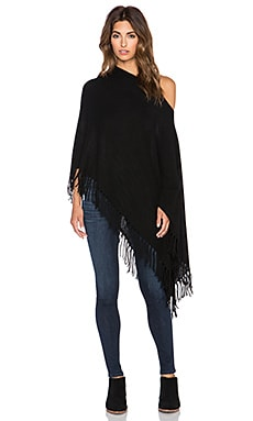 White + Warren Two Way Fringe Topper in Black