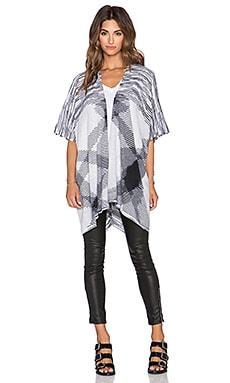 White + Warren Blanket Poncho in Black Jet Dye