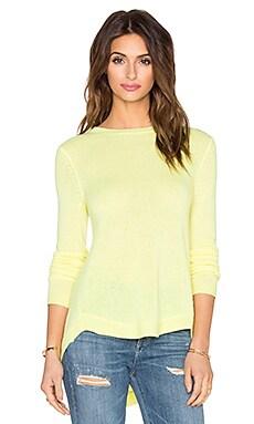 White + Warren Circular Hem Sweater in Sunbeam Multi