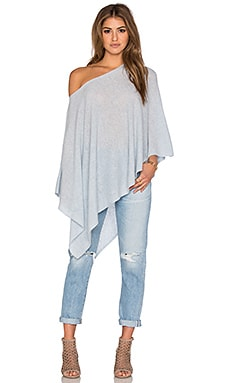 White + Warren Three Way Poncho in Mist Heather