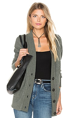 Patch Pocket Cardigan in Moss Heather
