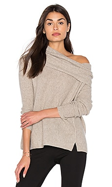 Three Way Funnel Neck Sweater in Dust Heather