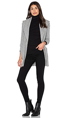 Shawl Cardigan in Gray Heather
