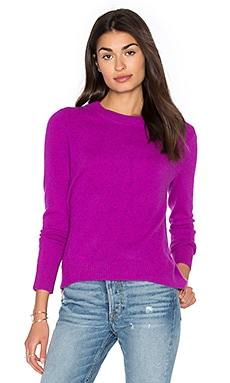 Hi Lo Crew Neck Sweater en Aurora Heather