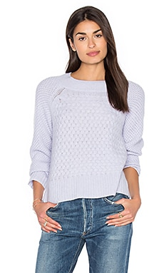 Weaved Crew Neck Sweater en Arctic Fog Heather