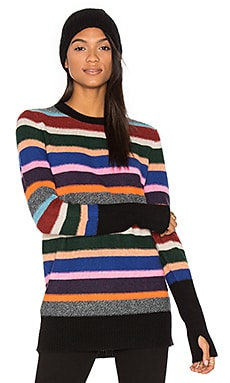 Stripe Crew Neck Sweater in Prism Multi