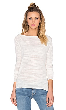 White + Warren Off Shoulder Top in White
