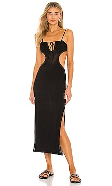 Ruched Cutout Maxi Dress WeWoreWhat $145 BEST SELLER