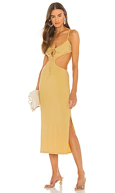 Ruched Cutout Maxi Dress WeWoreWhat $155 NEW
