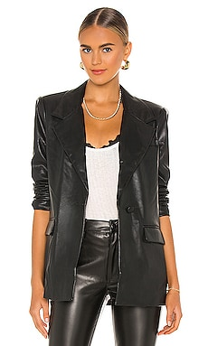 Downtown Vegan Leather Blazer WeWoreWhat $248 NEW