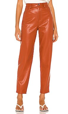 Dani Vegan Leather Boyfriend Pant WeWoreWhat $169