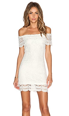 WYLDR Romaine Dress in White