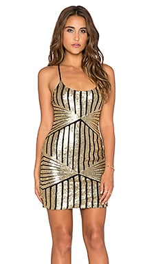 WYLDR Pixie Slip Dress in Gold