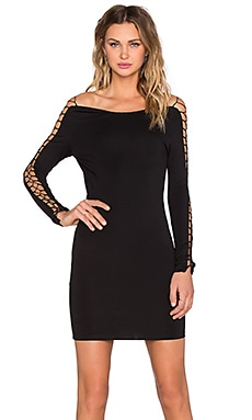 WYLDR Lace Me In Bodycon in Black