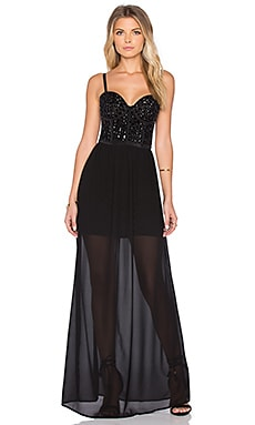 WYLDR Validate Maxi Dress in Black