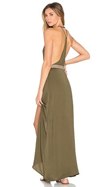 WYLDR Elegance Maxi Dress in Khaki