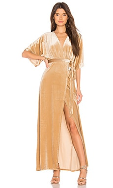 Dreamer Velvet Maxi Dress WYLDR $60