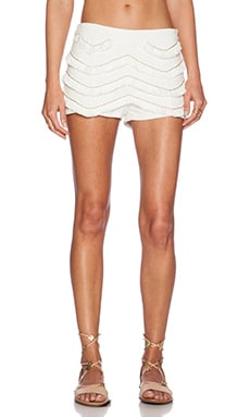 WYLDR Fringed Short in Ivory