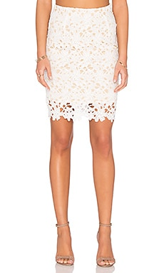 WYLDR Love A Lot Lace Skirt in Ivory