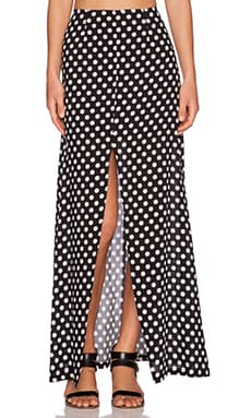WYLDR Partition Maxi Skirt in Polka Dot