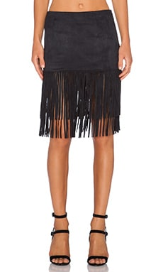 WYLDR Shimmy Shake Skirt in Black