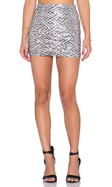 WYLDR Keep It Together Mini Skirt in Silver