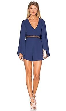 WYLDR Hope So Romper in Navy