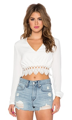 WYLDR Monsoon Crop Top in Ivory
