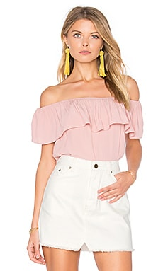 Indie Summer Off Shoulder Top in Blush