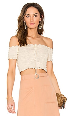 Break The Rules Crochet Crop Top in Cream