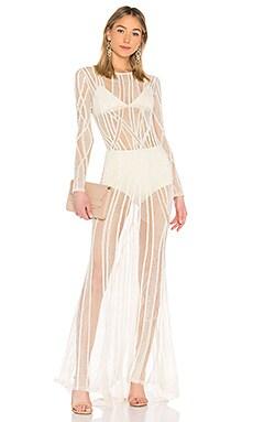 Купить Вечернее платье с длинным рукавом eclipse - X by NBD цвет ivory