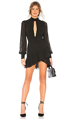 Купить Мини-платье с длинным рукавом all of me - X by NBD, С вырезом, Китай, Черный