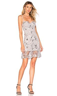 Кружевное мини-платье harper - X by NBD, Металлический серебряный, Коктейльное