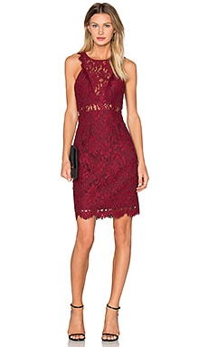 X by NBD Lena Dress in Bordeaux