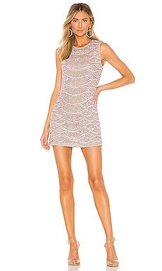 Мини платье с украшением monty - X by NBD, Розовый, Коктейльное