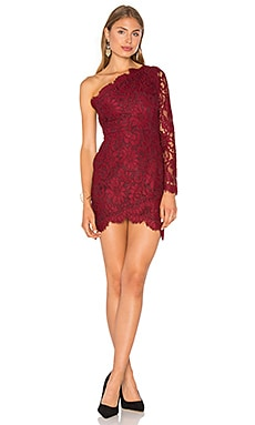 X by NBD Mia Dress in Bordeaux