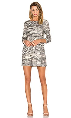 Anay Dress in Silver Sequin