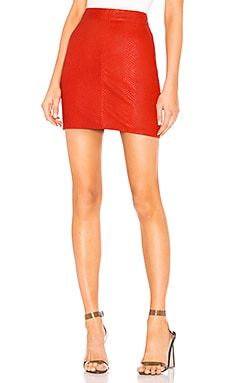 Mishka Leather Mini Skirt X by NBD $197