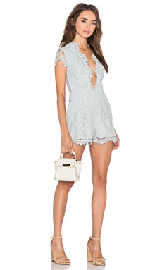 X by NBD Bonnie Romper in Dusty Blue