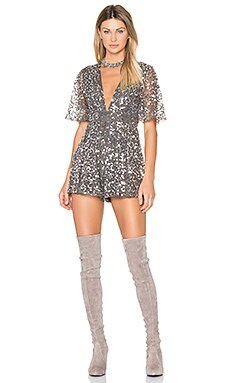 Maxwell Romper in Silver Sequin
