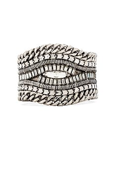 XEVANA Providence Cuff in Oxidized Silver