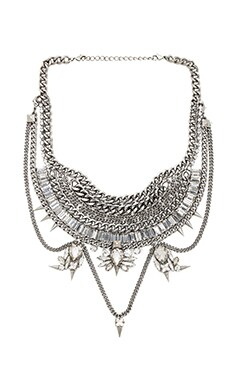 XEVANA Titania x Isis Necklace in Crystal & Gunmetal